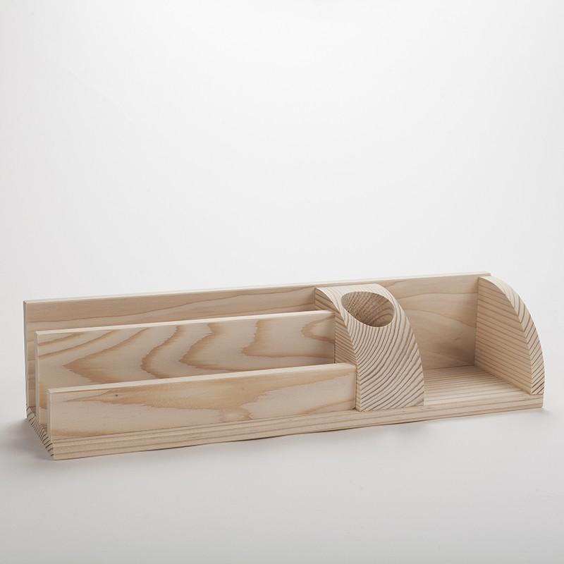 grand organisateur de bureau en bois porte cartes et. Black Bedroom Furniture Sets. Home Design Ideas