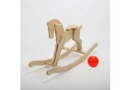 Cheval à bascule en bois massif huilé (frêne)