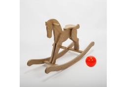 Cheval à bascule en bois massif huilé (chêne)