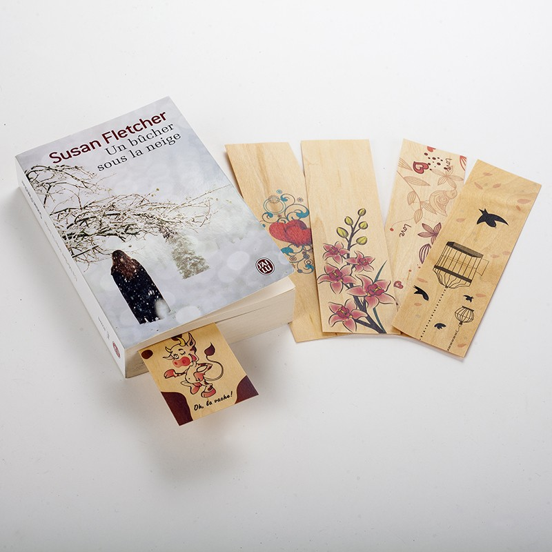 5 marque page en bois pour annoter un catalogue un magazine ou marque page en bois pour livre. Black Bedroom Furniture Sets. Home Design Ideas