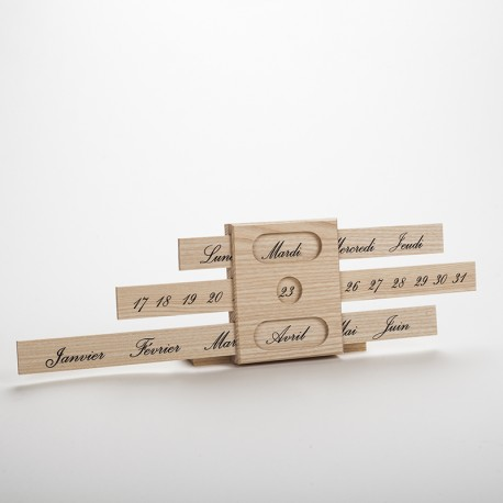 Calendrier perpétuel classique en bois