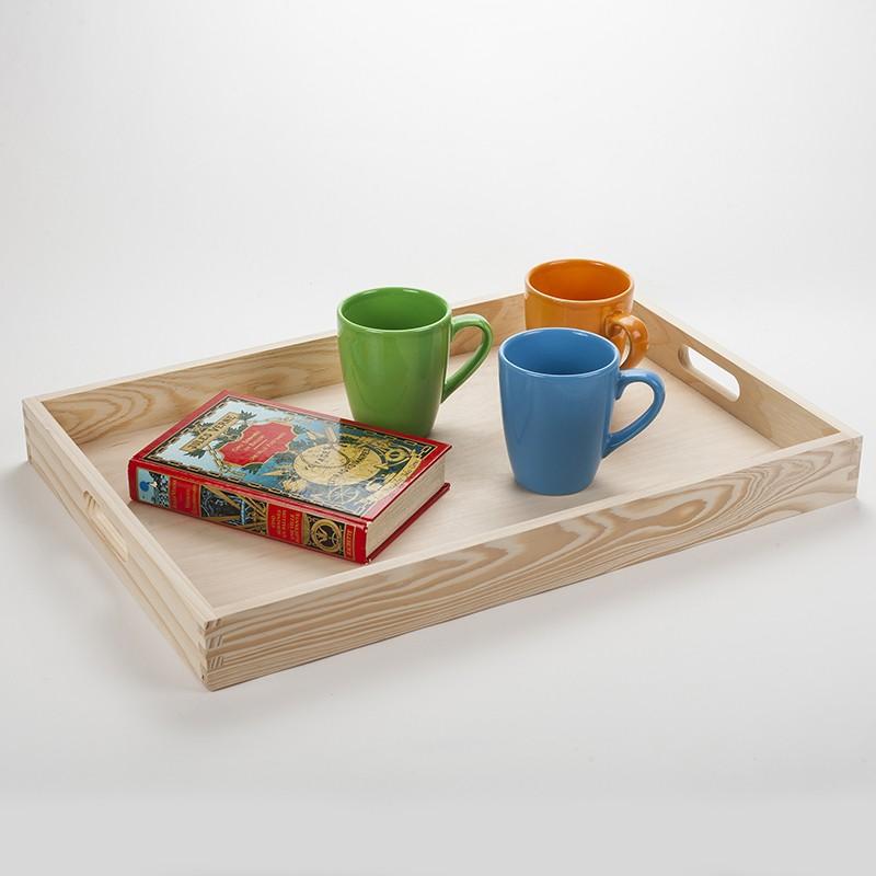 grand plateau servir en bois massif aux lignes fluides et design fabrication fran aise dans. Black Bedroom Furniture Sets. Home Design Ideas
