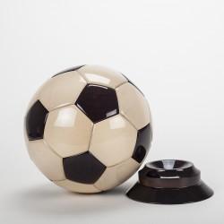 Trophée ballon foot en bois
