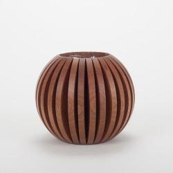 Vase Cache Cache bois boule sapelli
