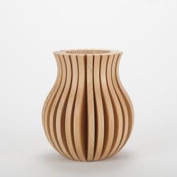 Vase Cache Cache bois Merisier classique