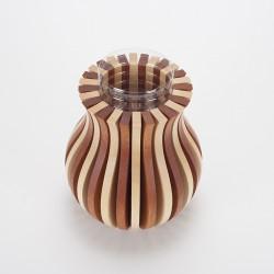 Vase Cache Cache bois classique bicolore
