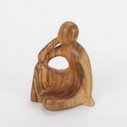 Statuette en bois Vierge à l'enfant (20 cm)
