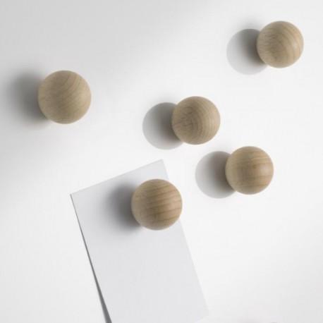 6 Boules magnet naturel