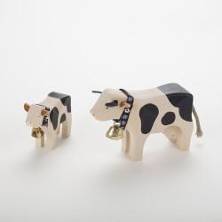 Vache noire et son veau