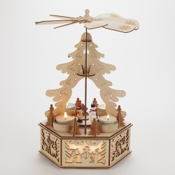 Pyramide de Noël mobile en bois