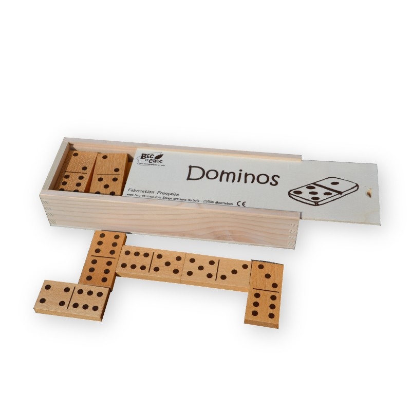 Coffret grands Dominos en bois