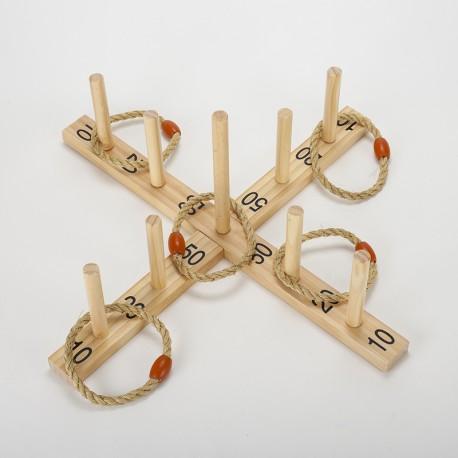 Lancer d'anneaux en bois