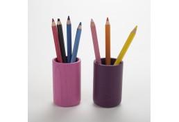 Lot pots à crayon rose et aubergine