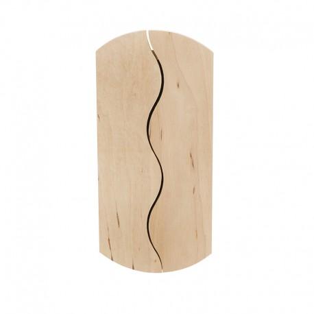 Petite armoire à clefs Ondine bois brut