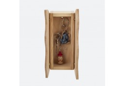 Petite armoire à clefs Ondine bois verni
