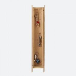Armoire à clefs étroite bois verni