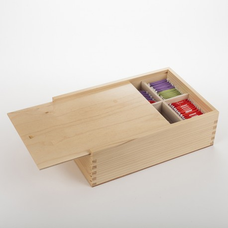 Grande boîte à tisanes bois verni