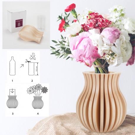 Vase Cache Cache bois classique naturel