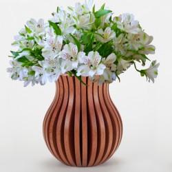 Vase Cache Cache bois classique sapelli