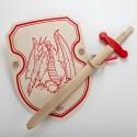Bouclier dragon et épée en bois
