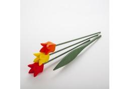 Bouquet tulipes en bois 3 fleurs