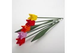 Bouquet tulipes en bois 5 fleurs