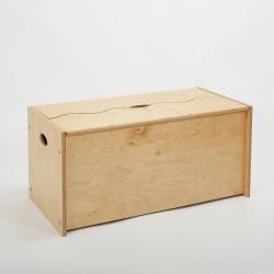 Coffre armoire Ondine bois huilé