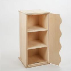 Coffre armoire Ondine bois brut