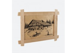 Tableau sérigraphié ferme comtoise 49 x 34 cm