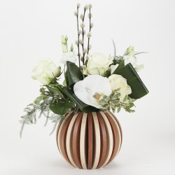 Vase Cache Cache boule bi-color