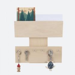 Porte clefs & courrier mural Brut