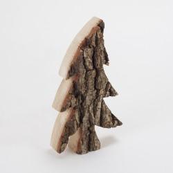 Sapin bois & écorce asymétrique (21 cm)