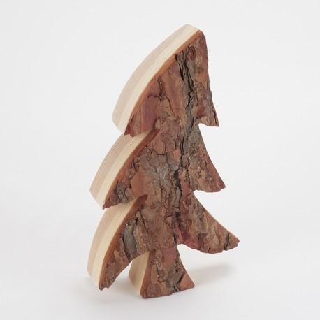 Sapin bois & écorce asymétrique (30 cm)