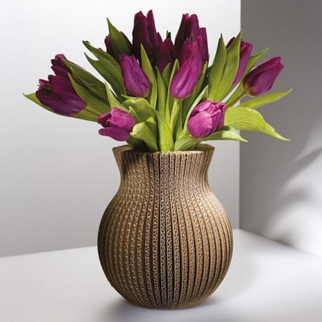 Vase Cache Cache carton classique naturel