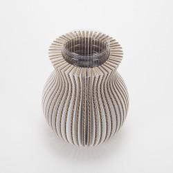 Vase Cache Cache carton classique blanc