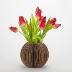 Vase Cache Cache carton boule naturel