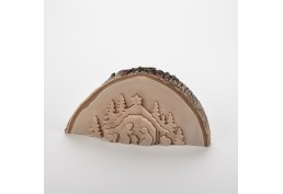 Crèche demi tronc d'arbre (17 cm)