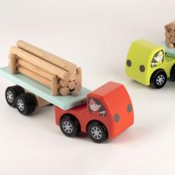 Camion en bois grumier 24 cm