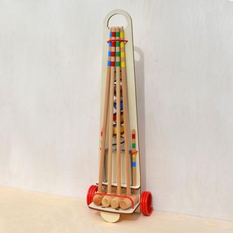 Croquet adultes chariot en bois (4 joueurs)