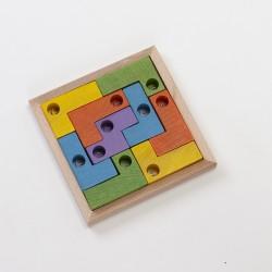 Coincidix junior en bois coloré avec cadre naturel