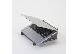Support pour ordinateur portable gris foncé en bois