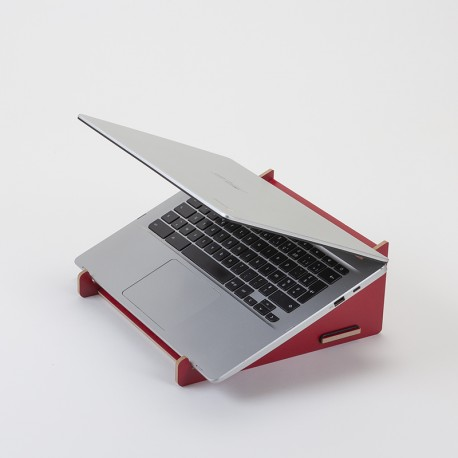 Support pour ordinateur portable rouge