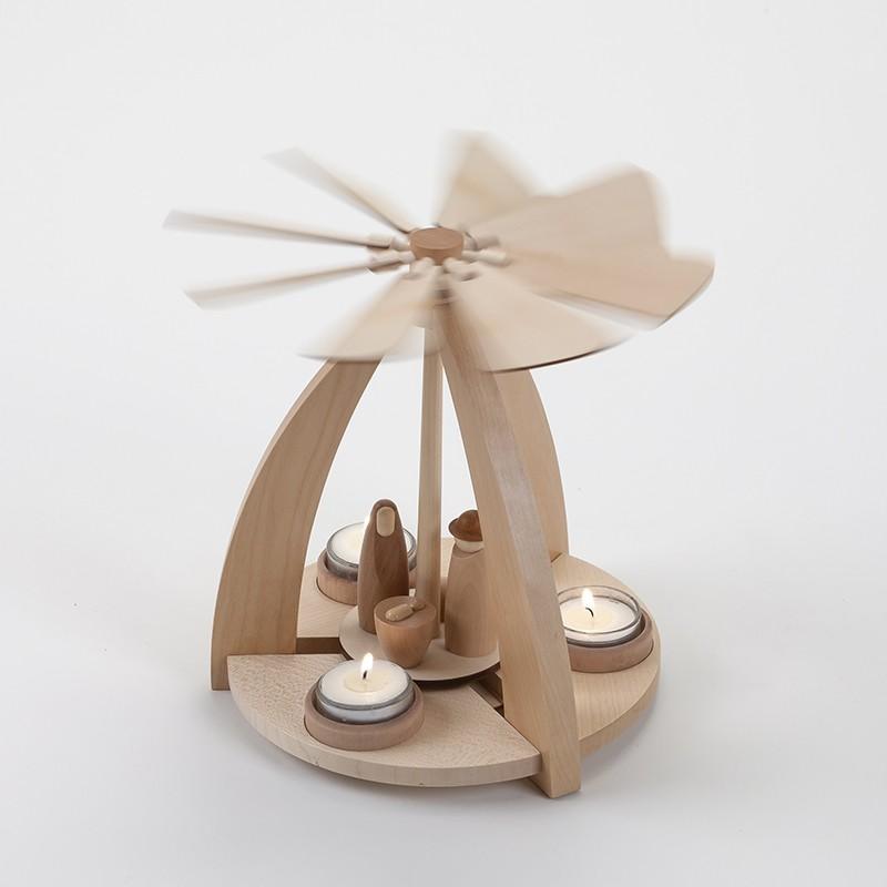 Crèche à hélice en bois