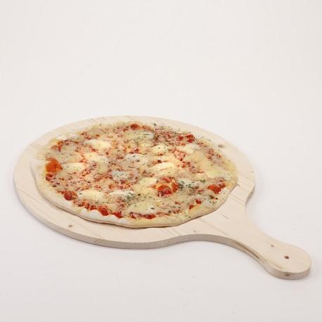Grande planche à pizza bois brut 55 x 44 cm