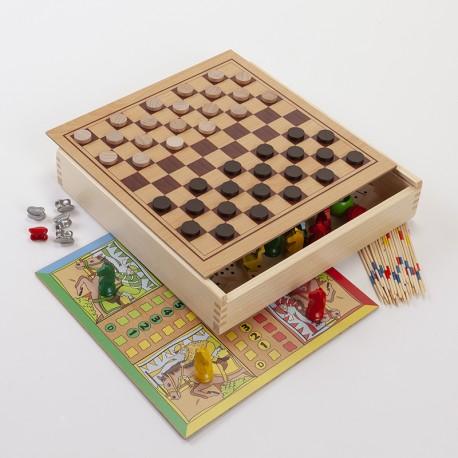 La ronde des jeux / coffret 8 jeux en bois