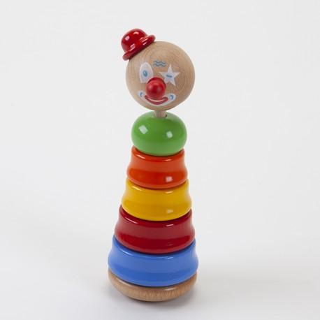 Culbuto clown empilable en bois