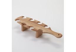 présentoir de flutes à champagne en bois