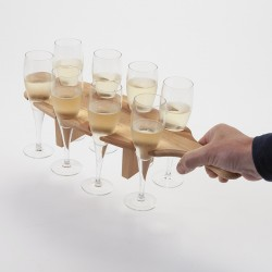plateau support de flutes à champagne