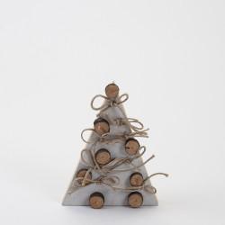 Sapin blanc et rondins 23 cm en bois