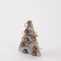 déco de Noël sapin avec rondins